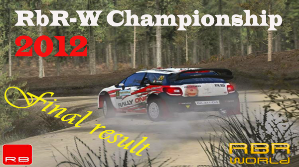 RBR-W Championship 2012 Final Result