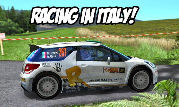 Racing in the pasta-country!
