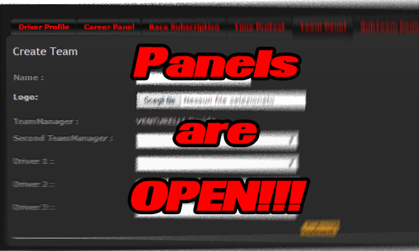 Team Panel is Open!!