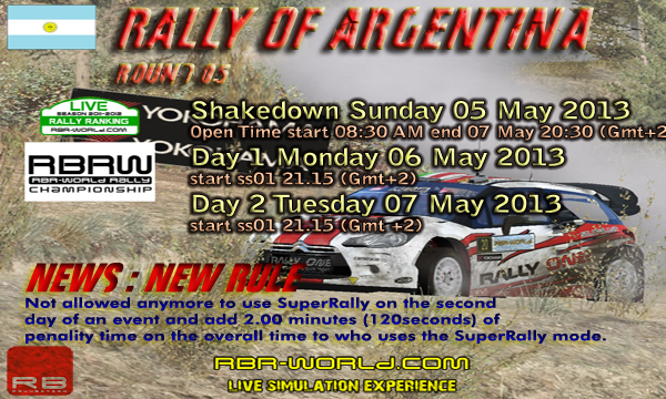 RBRW Rd05: RALLY of Argentina