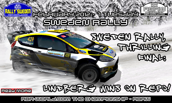 Lindberg wins Sweden Rally.